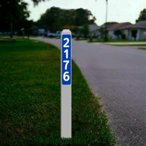 "Driveway Reflective Address Number Markers 3"" x 7/8"" x 33"""