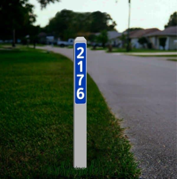 Driveway Address Markers Canada - Reflective
