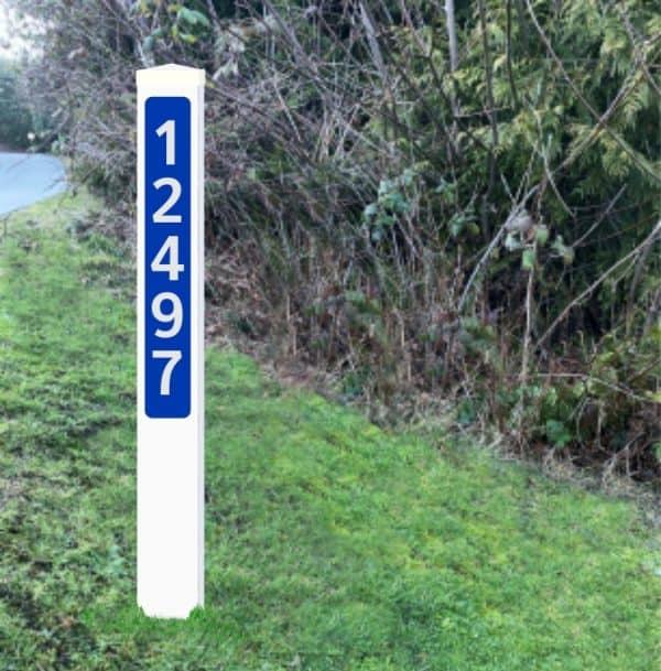 Driveway Address Posts Canada - Reflective