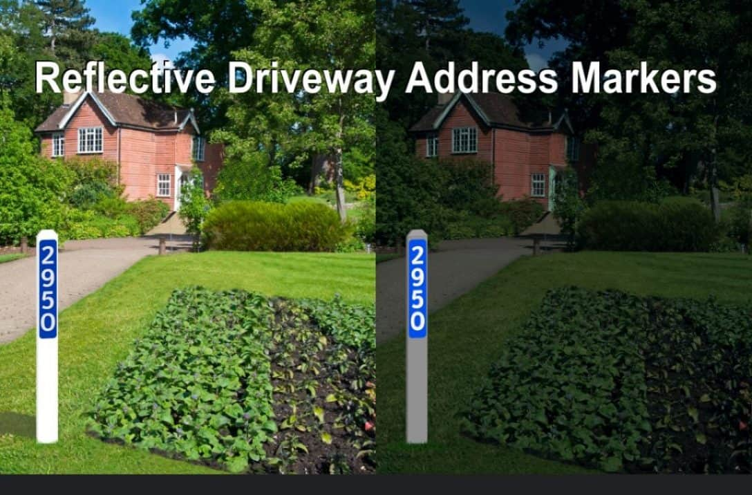 Driveway Address Markers Canada - Reflective
