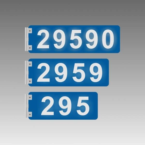 Horizontal Double-Sided Side-Bracket Flag-Style Reflective Address Number Signs