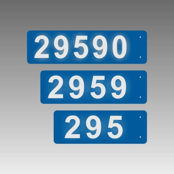 Horizontal Double-Sided Side-Mounted Flag-Style Reflective Address Number Signs