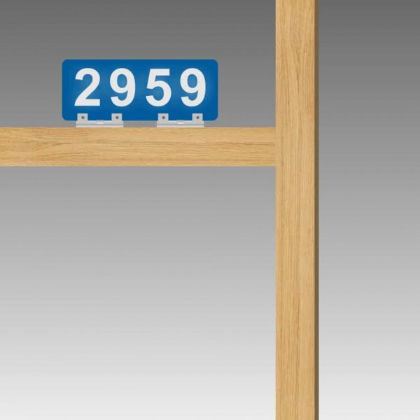 Horizontal Double-Sided Top-Brackets Flag-Style Reflective Address Number Signs