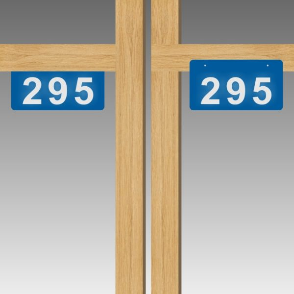 Horizontal Double-Sided Top-Mounted Flag-Style Reflective Address Number Signs