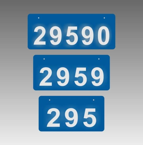 Reflective Address Signs Canada - Horizontal
