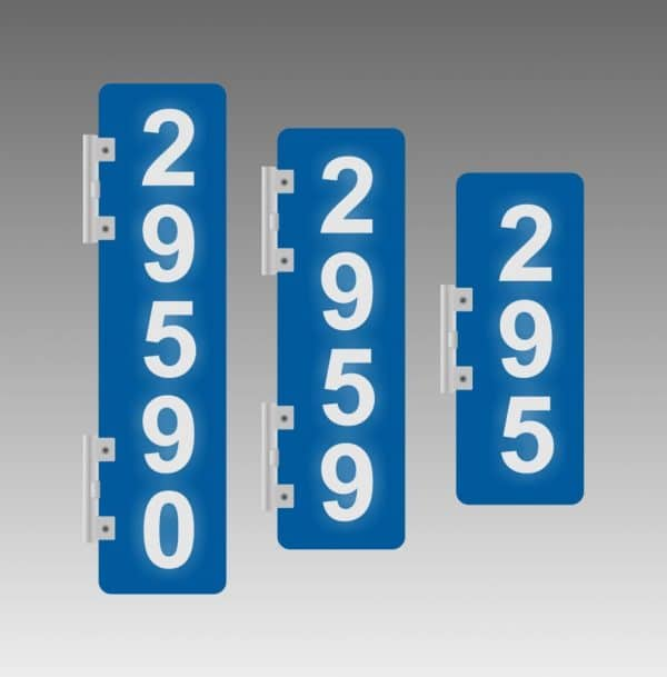 Reflective Address Signs Canada - Vertical