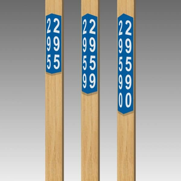 "Triangular Reflective Address Number Signs - Narrow 3.25"" wide"