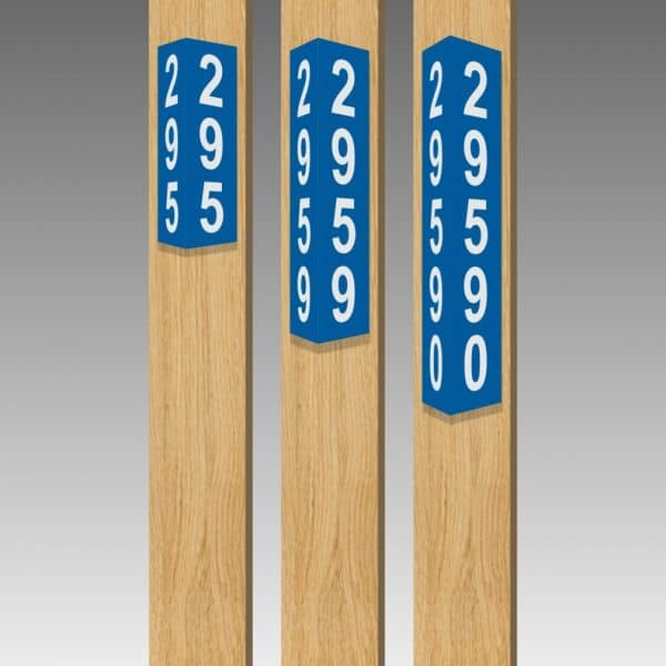 "Triangular Reflective Address Number Signs - Standard 4.5"" wide"